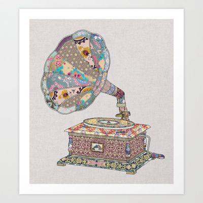 SEEING SOUND Art Print by Bianca Green