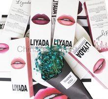 Hot Brand LIYADA Liquido Opaco rossetto make up lip kit + Lip Liner pencil compagno kilie rossetto Impermeabile di Lunga Durata 16 pz/8 set(China)