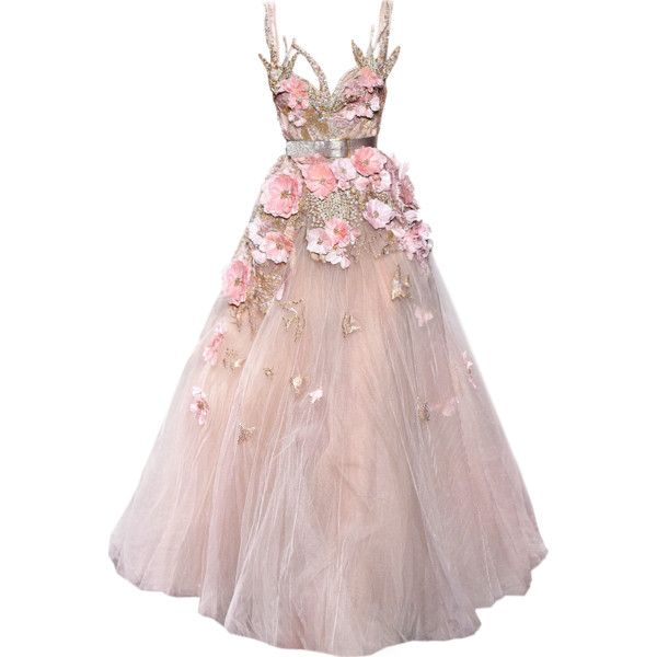 satinee.polyvore.com - Elie Saab Couture 2017 ❤ liked on Polyvore featuring dresses, gowns, satinee, elie saab, couture ball gowns, pink ball gown, elie saab evening dresses, elie saab dresses and pink evening dress