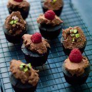 Cupcakes al cioccolato vegan e gluten-free