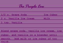 Purple Cow Receipe - The Purple Store