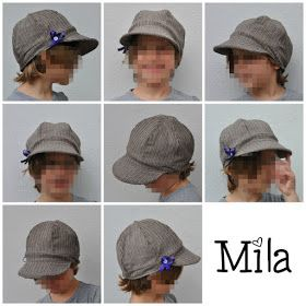 Mila Schirmmütze für Kinder von m hoch 3, FREEBOOK!! Gr. 50-54