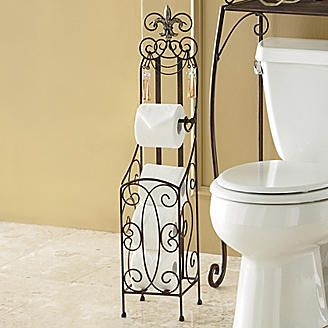 Tissue holders fleur de lis and bathroom on pinterest - Fleur de lis toilet paper holder ...