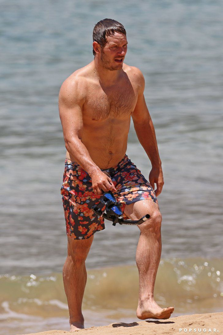 Pin for Later: The 21 Sexiest Shirtless Moments From 2014 Chris Pratt's Superhero Body
