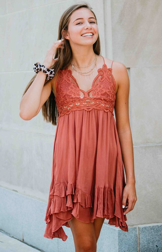 Free People One Adella Slip Coral Rose Dresses Fashion Free People Dress