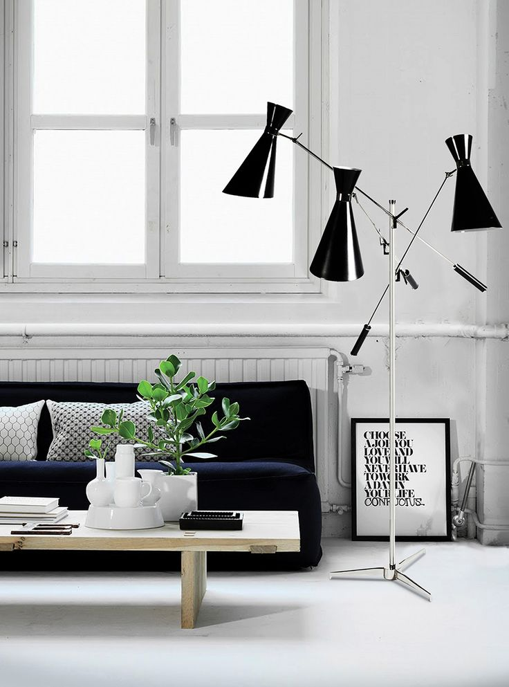 A modern floor lamp like Stanley standing lamp will just a great choice when it comes contemporary living room ideas. The best inspirations for interior design.