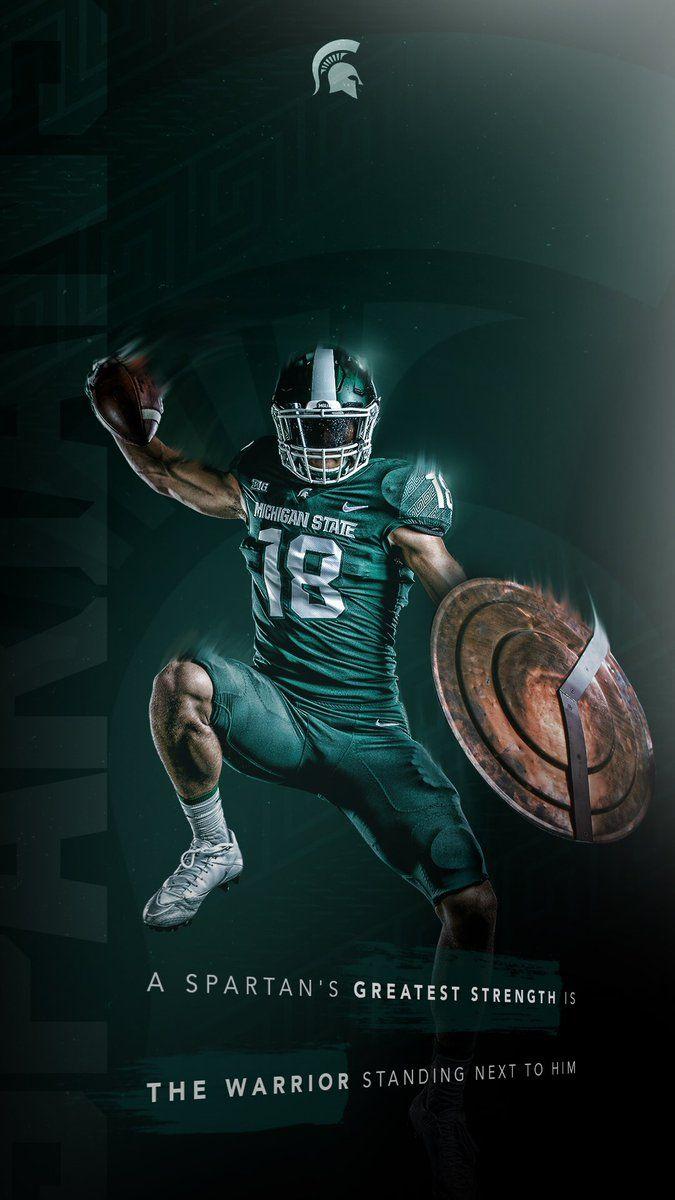 Michigan State Sports Design Inspiration Sports Graphic Design Football Design