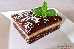 Paleo Chocolate Macadamia Triple Layer Brownie