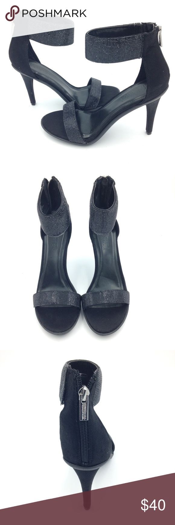 New Women's Black Rhinestone Kenneth Cole heels New Black Pixie Glitter Kenneth Cole heels with zipper back, Kenneth Cole Shoes Heels