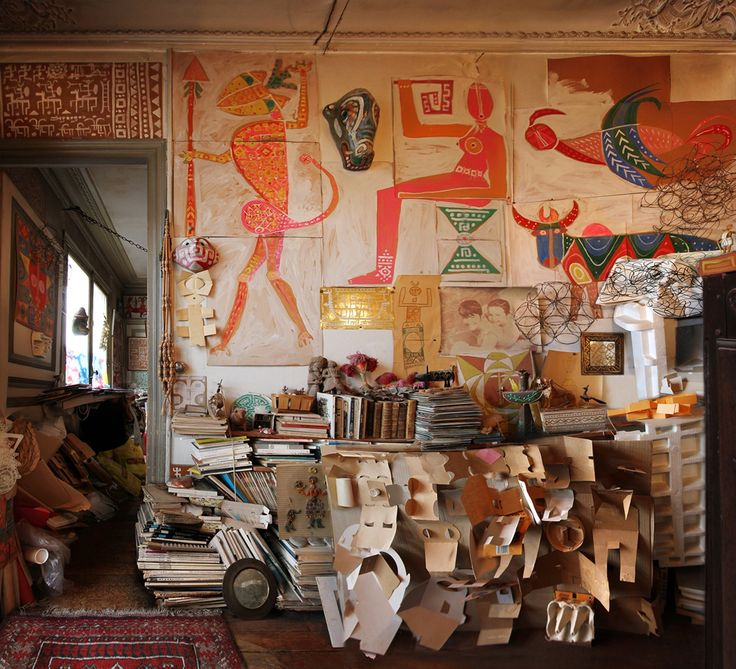 Decorations and murals, Yona Friedman's apartment