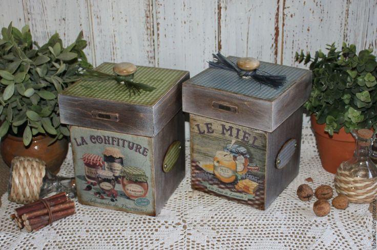Купить Коробочки для кухни - разноцветный, емкость для сыпучих, баночки для специй, коробочка для конфет, баночка для чая