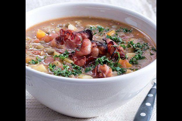 Hustá čočková polévka