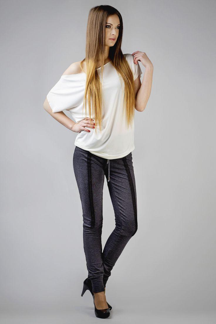 Grafitowe dresowe spodnie damskie