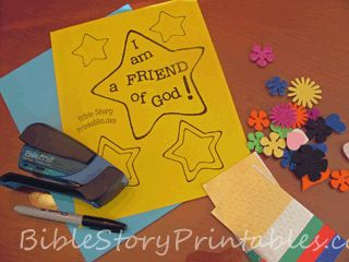 Links to a website with Bible story printables