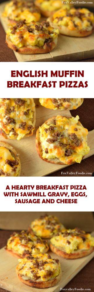 English Muffin Breakfast Pizza #breakfast #recipes #brunch #easy #recipe