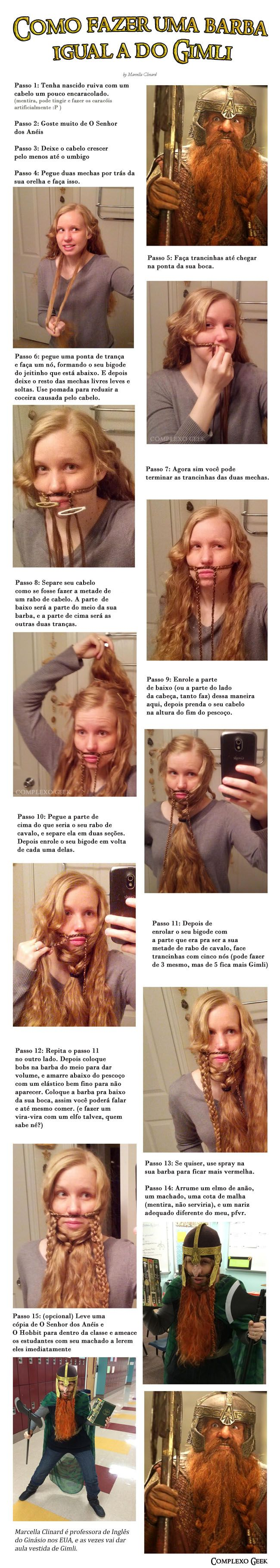 Como ter uma barba épica igual a do Gimli sendo mulher