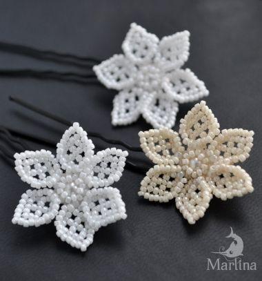 Easy elegant bead flowers (beading pattern) // Egyszerű elegáns gyöngy virágok (gyöngyfűzés minta) // Mindy - craft tutorial collection
