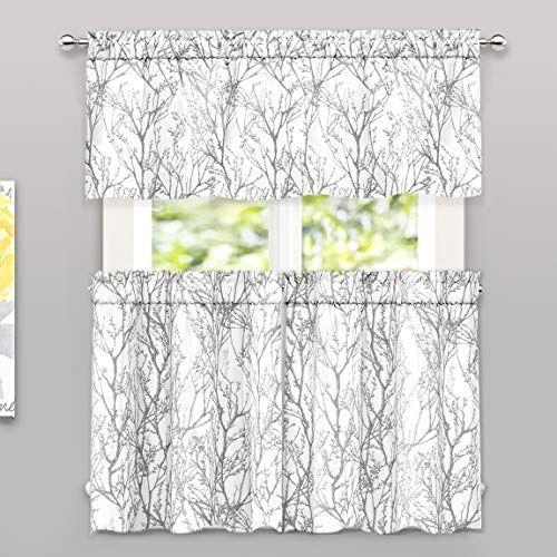Driftaway Tree Branch Botanic Pattern Semi Sheer 3 Pieces Https