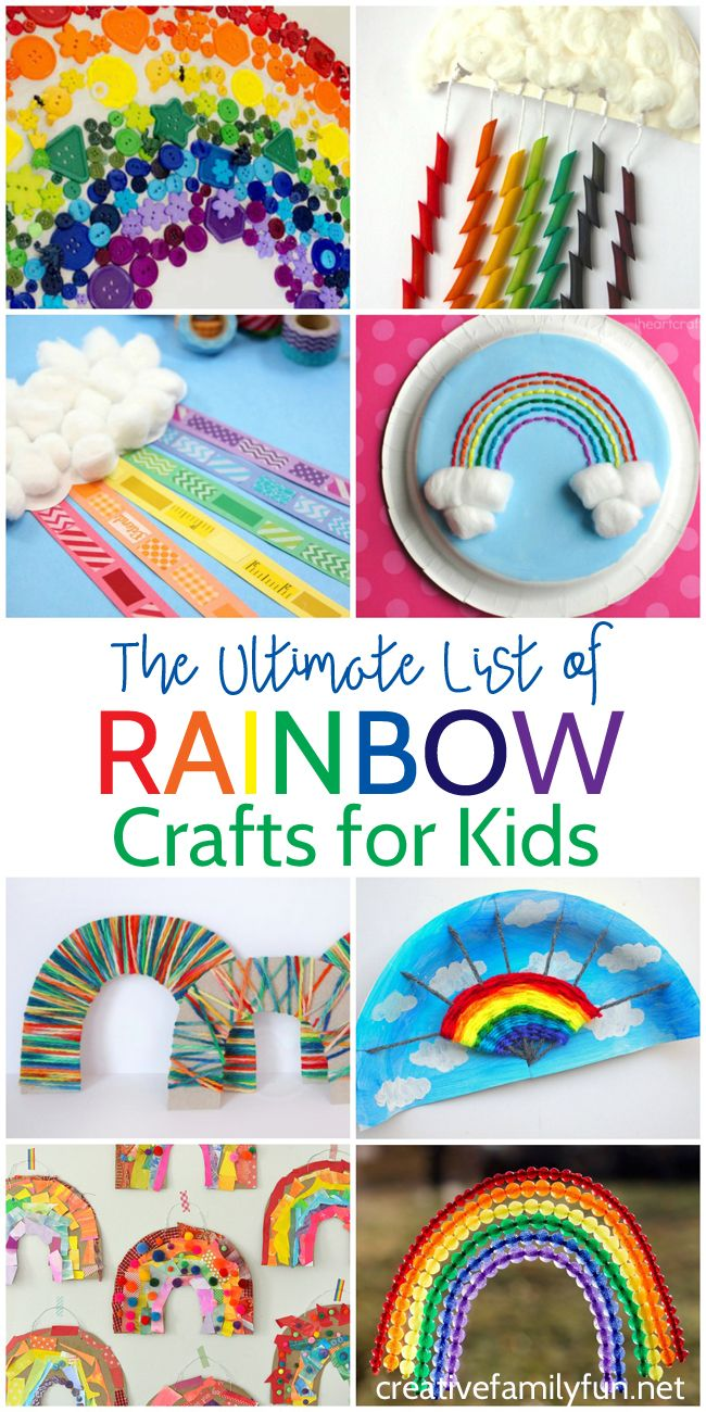 The Ultimate List Of Rainbow Crafts For Kids Creative Family Fun Rainbow Crafts Rainbow Activities Rainbow Crafts Kids
