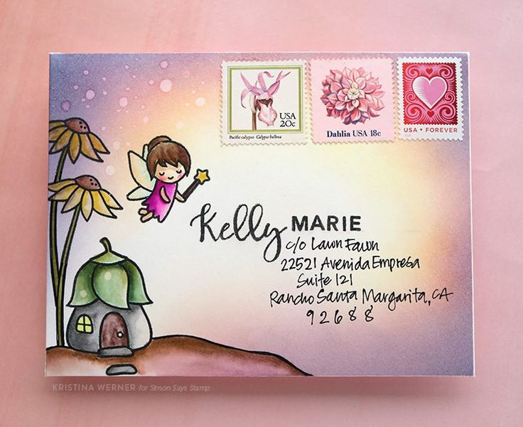 Monthly Mail Art – January 2017 – Simon Says Stamp – kwernerdesign blog