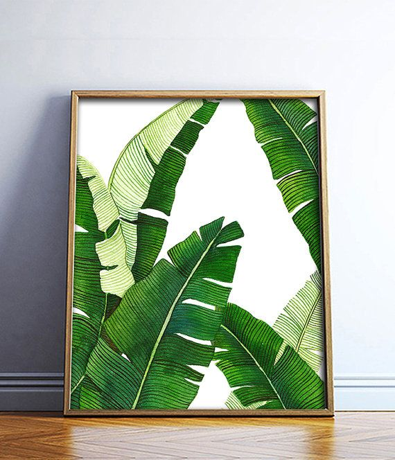This listing is for a DIGITAL FILE of a printable watercolor Banana Leaf poster. Available in 8 sizes, please choose from the drop down box on the top