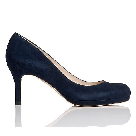 Buy L.K.Bennett Sybila Suede Platform Court Shoes, Navy Online at johnlewis.com