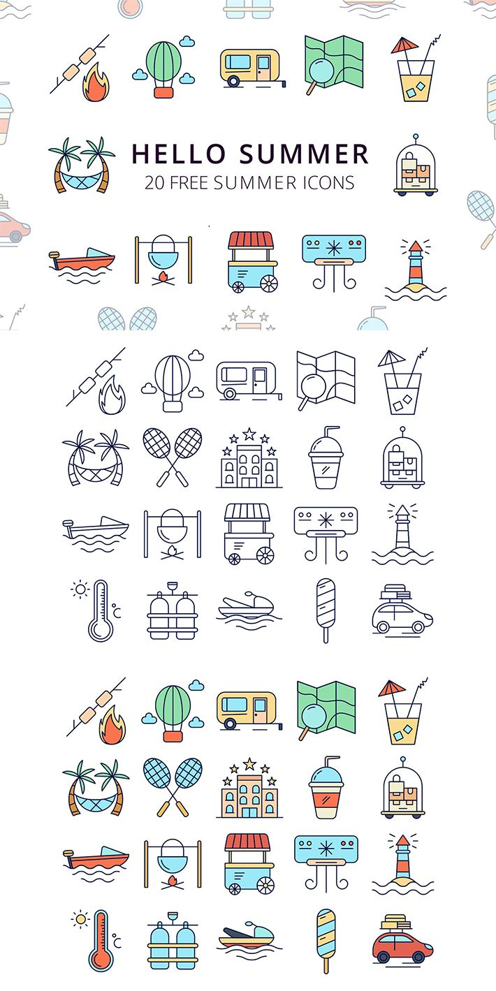hello summer vector free icon set deszone net in 2020 free icon set free icons holiday icon hello summer vector free icon set
