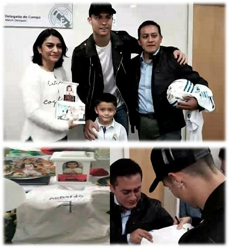 🙏Cristiano met the family of a little boy 'Santiago Flores Mora (huge fan of Cristiano)' who sadly passed away last month in the Mexico City earthquake...😇🙏🙏