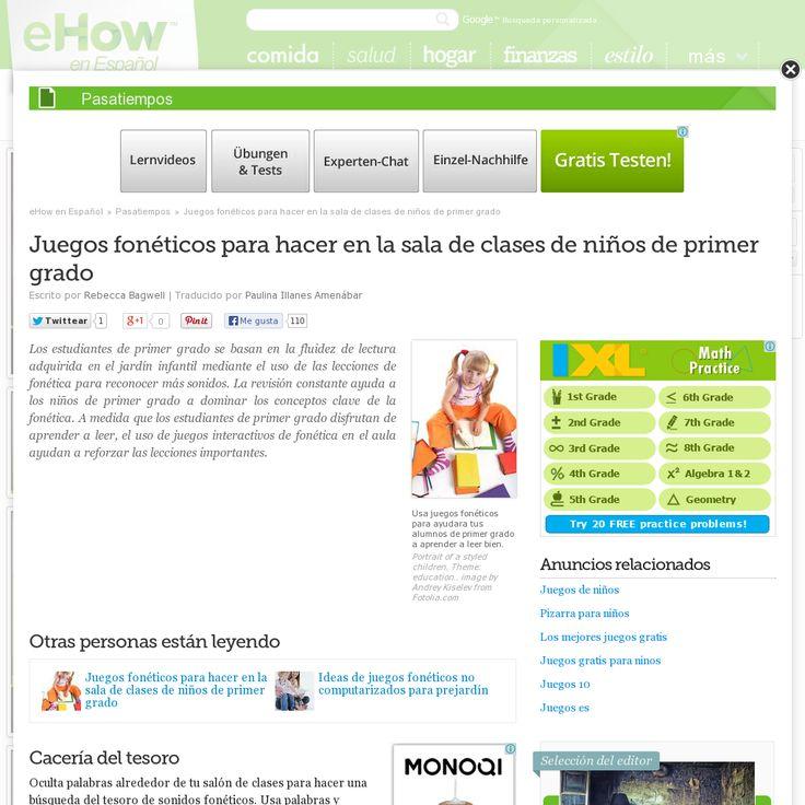 Juegos fonéticos para niños. 'http://www.ehowenespanol.com/juegos-foneticos-sala-clases-ninos-grado-lista_120955/' snapped on Snapito!                                                                                                                                                                                 Más