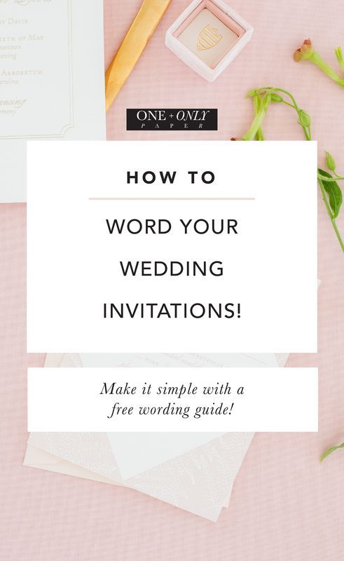 How to word your wedding invitations - the easy way! |