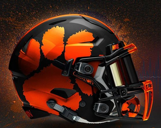 Clemson Football Concept Helmets | Photo: Black Helmet Concept Design for Clemson - Clemson Football ...