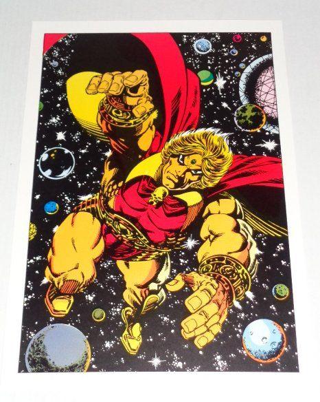 1970's Marvel Warlock poster pin-up: 1978 Rare vintage original Marvel Comics cosmic comic book superhero pinup poster 1/Art by Jim Starlin