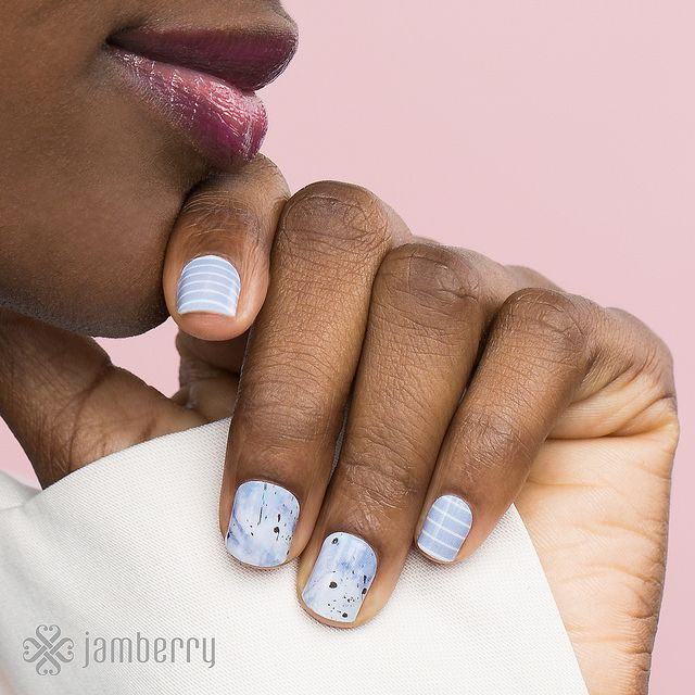 Serenity Stripe Wrap and Sculpted in Serenity Wrap by Jamberry. abettineski.jamberry.com