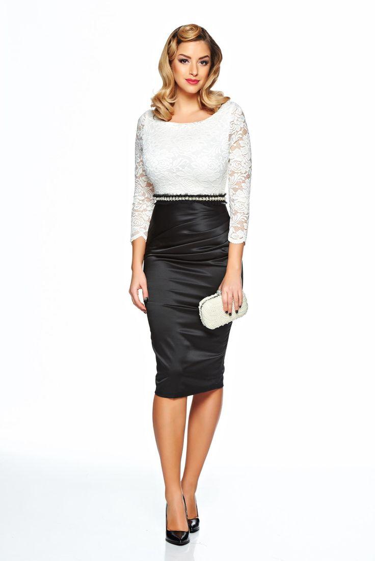Comanda online, Rochie StarShinerS Gallantly White. Articole masurate, calitate garantata!
