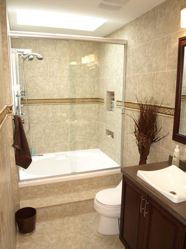 50 best Bathroom renovation tan/beige tub/tile/floors ... on Small Bathroom Renovations  id=90424