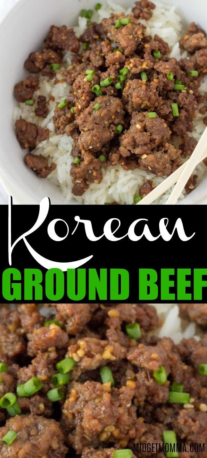 This Quick And Easy Korean Ground Beef And Rice Bowl Is An Easy Solution To Your Dinner Problem If You Ground Beef Recipes Easy Beef Recipes Beef Recipes Easy