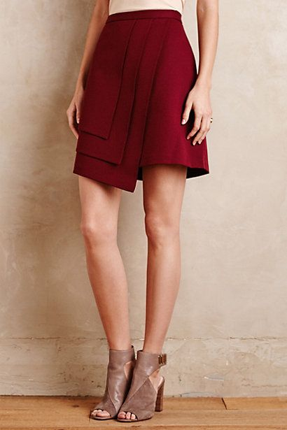 I'm loving burgundy and wrap skirts. All of my skirts need to be longer than this one, but I like everything about it.