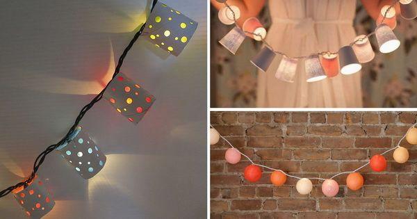 3 DIY para personalizar guirnaldas de luces navideñas