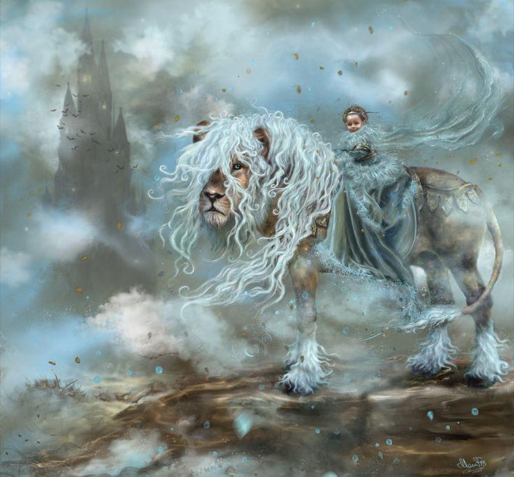 fantasy lion Art   Dreamland, abstract, castle, child ...