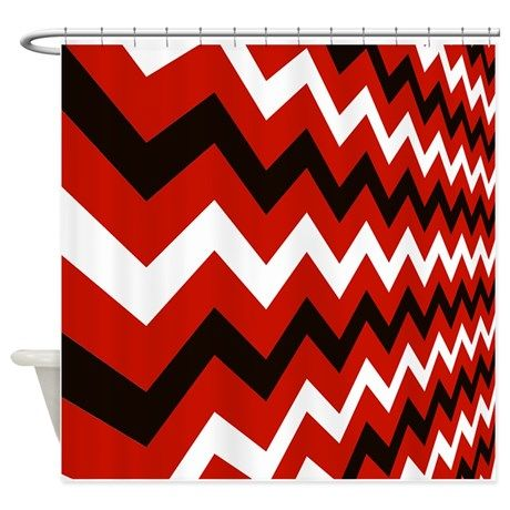 Black And Red Shower Curtains