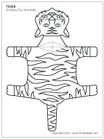 Folding tiger template. This site has several folding animal templates for 3d projects.