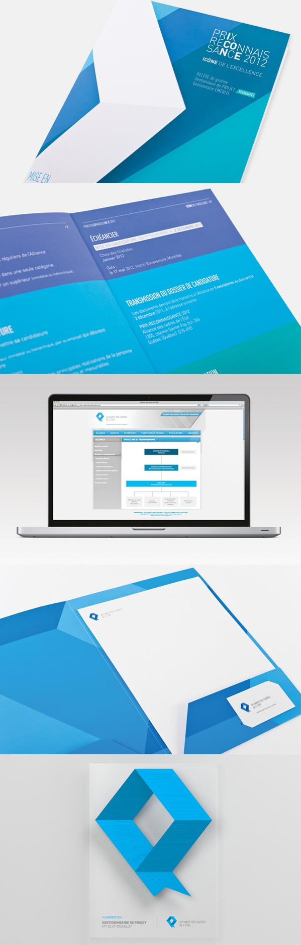 Client : Alliance des cadres de l'État - Campagne publicitaire imprimée, design graphique, design industriel, image de marque, outils corporatif, site web.