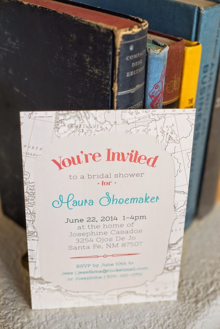 couples bridal shower games free%0A Julie Haider Photography   Design  Vintage Travel Themed Bridal Shower  Invitation