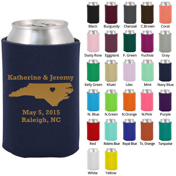 Wedding Koozies Clipart 1068 State of North by MyWeddingStore