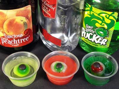 Halloween Jell-O Shots! This page has a TON of awesome halloween jello shots that would be awesome for a halloween party :)