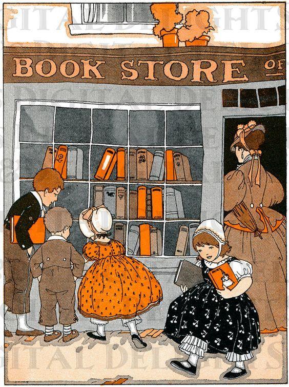 Resultado de imagem para bookshop ilustração