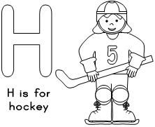 H is for hockey!