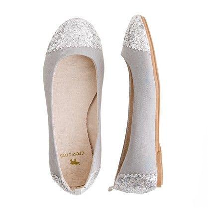 crewcuts girl's glitter toe ballet flats #shoes #children #fashion $58