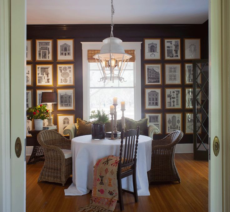 Fabulous Dining Room By Mary Jo Bochner Love The Art Wall