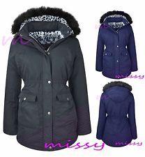 PARKA GIRLS New JACKET COAT FUR HOODED LEOPARD CLOTHING AGE 7 8 9 10 11 12 13 G